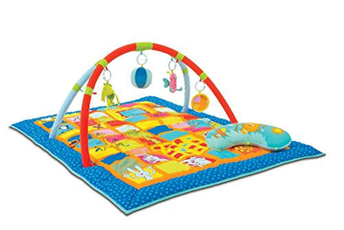 Taf Toys Curiosity Activity Gym Tummy Time Play Mat | Neck & Shoulder Comfort, Removable Arches, Touch Musical Ball, Squeaker, Crinkles, Teethers, Butterfly, Easier Child Development & Parenting (Baby Comfort Toy)