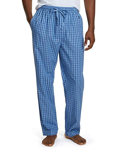 Nautica Men's Sleep Pant, French Blue, Large (Men Pajama Pants Tall)