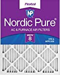 Nordic Pure 14x36x1 Exact MERV 8 Pleated AC Furnace Air Filters 6 Pack