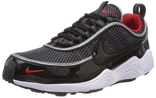 Nike Herren Air Zoom Spiridon '16 Gymnastikschuhe, Colour: Iron Green Black Hyper Crimson, Schwarz (Black/Black/University Red/White 006)