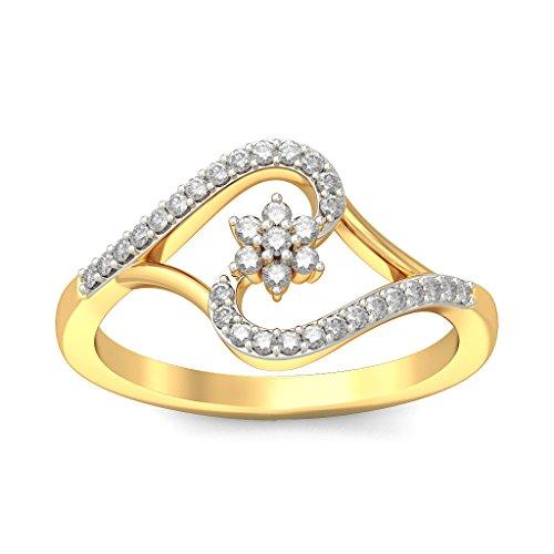 Or jaune 18K, 0,21CT TW Diamant Blanc (IJ | SI) en diamant
