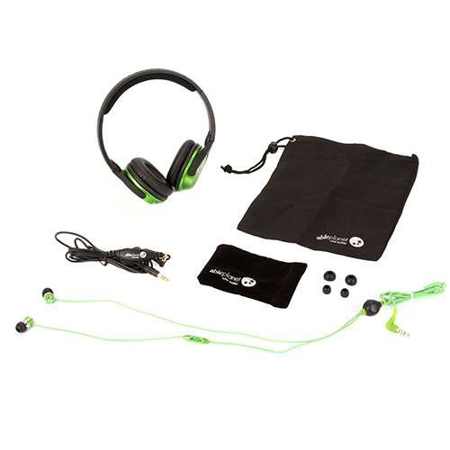 Able Planet SH180GRM-SI170GR Musicians' Choice Over-the-Ear Stereo Headphones, 20 Hz - 20 kHz Frequency Range, Green Ableplanet Noise Canceling Headphones