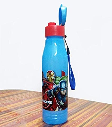 Kieana Plastic Cartoon Animated Avenger Printed Bottles Sippers (Standard Size)