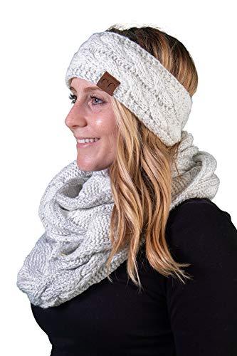 Cotton Metallic Scarf - dHWS-6100-2501 Headwrap Scarf Set Bundle - Solid Metallic Ivory/Silver