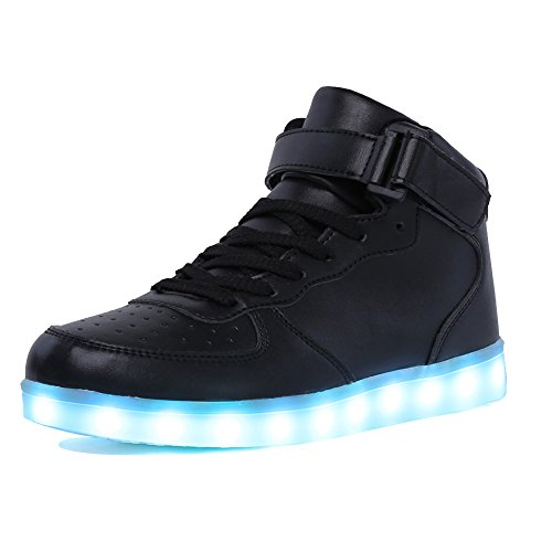 CIOR Kids Boy and Jail-bait's High Top Led Sneakers Light Up Flashing Shoes(Toddler/Little Kid/Big Kid),105,01,36