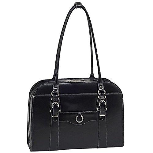 Black 96525 McKlein Hillside 15.6 Leather Ladies Briefcase 43 cm