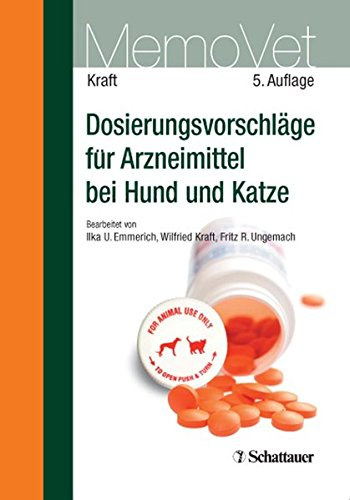 Dosierungsvorschläge für Arzneimittel bei Hund und Katze: MemoVet