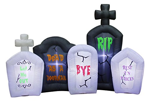 Occasions Inflatable Flashing Lights Tombstone Scene Halloween Decoration (Tombstone Set)