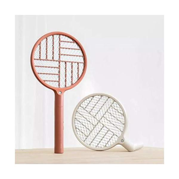 2 in 1 pieghevole elettrico Schiacciamosche 1200mAh - ricaricabile g Zapper Tennis Raet wi Safe To rete della maglia 5 spesavip
