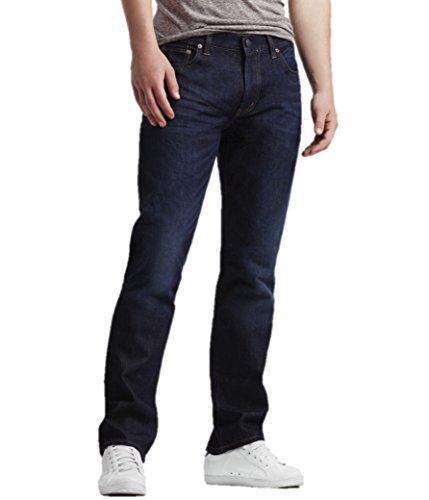 Aeropostale Mens Straight Dark Wash Jeans 34x30