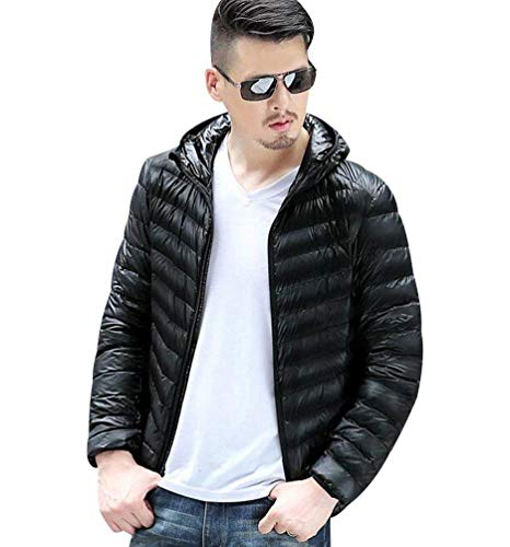 Quilted Jackets Mr Schwarz Men Coat Jacket Quilted Down Jacket Coats Men Quilted Jackets Men's Jacket Lightweight Thick Winter Winter Hooded Down Men Winter Ultralight Lightweight Jackets Light Unique 78vxpFF