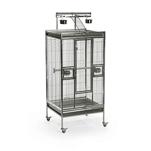 Prevue Pet Products Stainless Steel Play top Bird Cage, Stainless Steel by Prevue Pet Products
