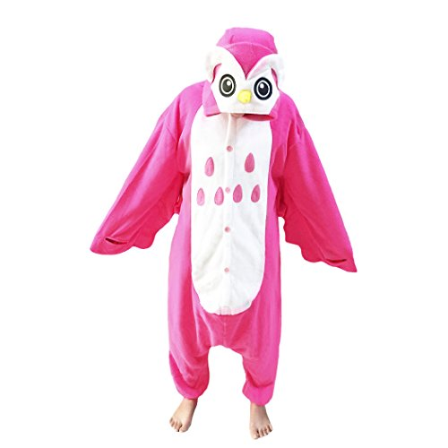 [WOTOGOLD Animal Cosplay Costume Pink Owl Unisex Adult Pajamas Pink] (Mens Owl Costumes)