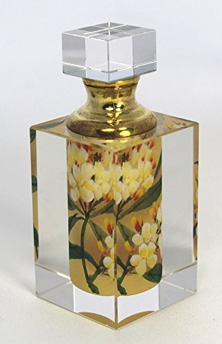 White Apple Tree Blossom Crystal Perfume Bottle