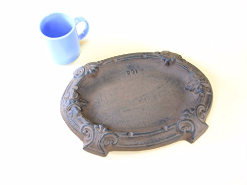 LARGE Cast Iron Ashtray for Cigars and Cigarettes 13