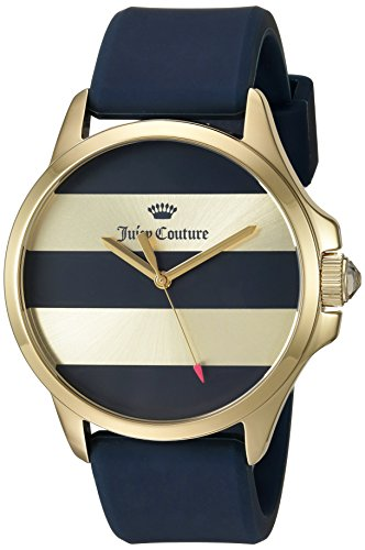 Juicy Couture Women's Navy Blue Silicone Strap Watch - 2