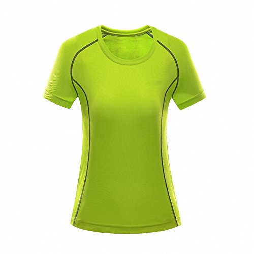 Maoko Women's Sports T Shirts- Polyester Short Sleeve Crew Shirt for Girls