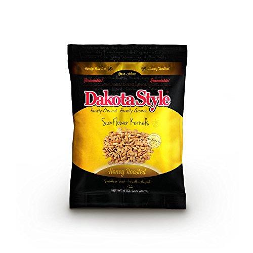 Dakota Style Sunflower Kernels, Honey Roasted, 8 Ounce (Pack of 12)