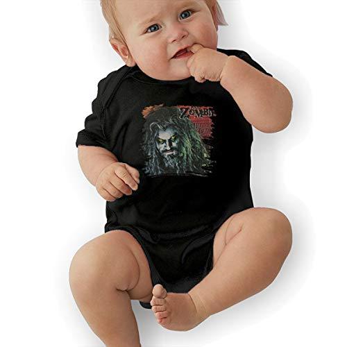 LarryGThatcher Baby Rob Zombie Short Sleeve Breathable Infantile Suit 6M Black -