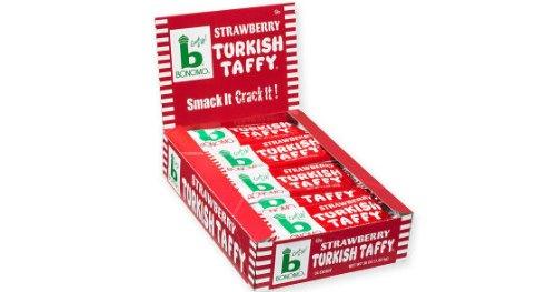 Bonomo Turkish Taffy - Strawberry, 1.5 oz, 24 count