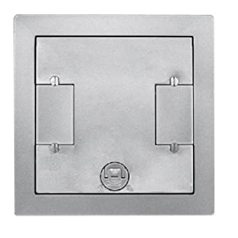 hubbell wiring systems lcfbcaltc aluminum finish recessed concrete rh amazon com recessed structured wiring box recessed light junction box wiring