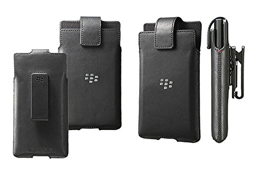 (Original Blackberry Priv Premium Leather Belt Clip Swivel Pouch Case Cover Holster For BlackBerry Priv - Black)