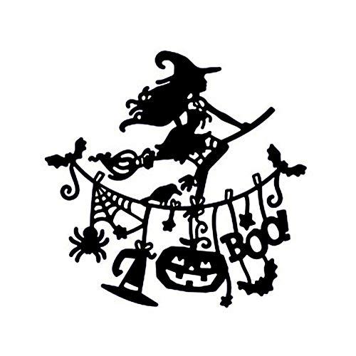 TOOGOO Pumpkin Witch Pull Flag Metal Cutting Dies for Halloween Scrapbooking Steel Craft Die Cut Creative Stamp Embossing Cards Stencil -