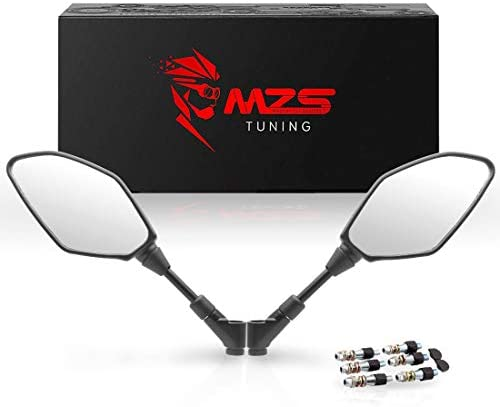 MZS オートバイ リアビューミラー Universal 7/8 ATV Motorcycle Mirrors 7/8 ATV Handlebar Mount Mirrors