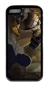 iPhone 5C Case, iPhone 5C Cases - Durable Protective Black Soft Rubber Back Case for iPhone 5C Blitzcrank League Of Legends Utral Slim Soft Back Bumper Case for iPhone 5C Kimberly Kurzendoerfer