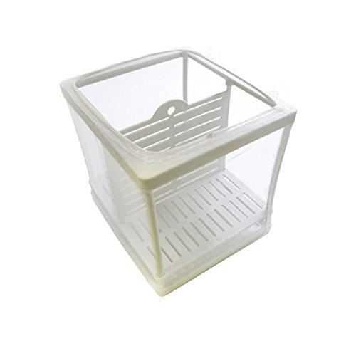 Fish Breeder Box Separation Net Plastic Aquarium Fish Tank Frame Fry Hatchery Isolation Shrimp Net Mesh Breeder L by Blingdeals