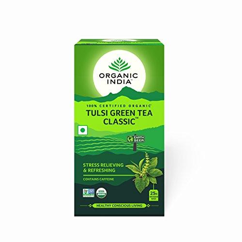 (Organic India Tulsi Green Tea 25 Tea Bags - By Pack Of 3)