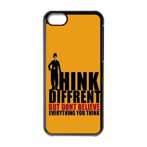 Think Different Mais DO02PY2 cas d'coque iPhone de téléphone cellulaire 5c coque I9SV8F7YL