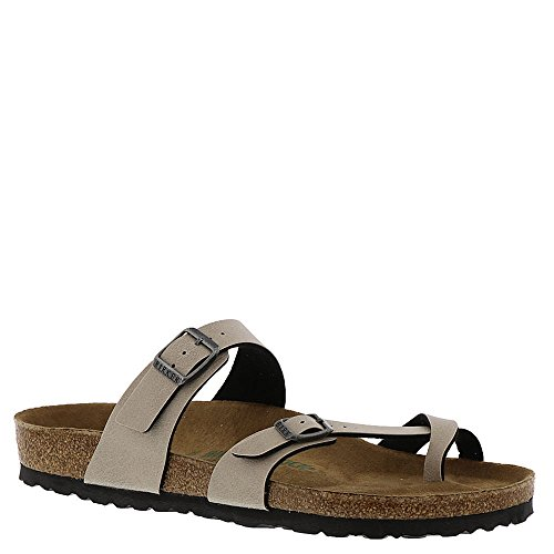 Birkenstock New Women's Mayari Vegan Sandal Pull Up Stone 40 R ()