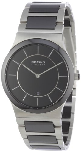 BERING Time 32239-747 Men's Ceramic Collection Watch with Ceramic Link Band and scratch resistant sapphire crystal. Designed in Denmark.