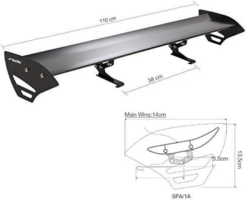 Simoni Racing Spa//8 Aler/ón para maletero de aluminio negro