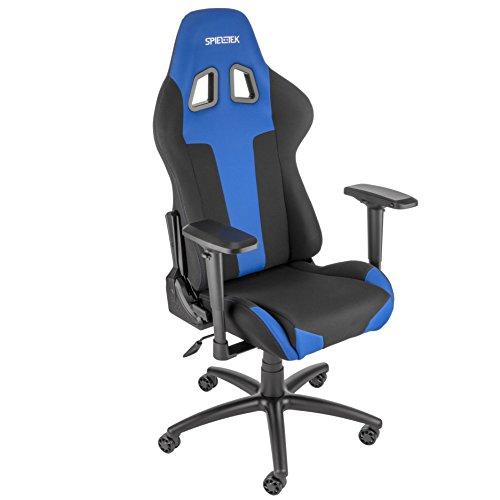 Spieltek Berserker Gaming Chair V2 (Fabric, Blue) Spieltek