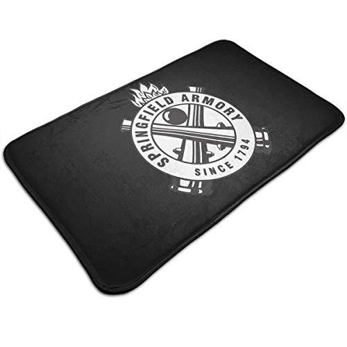 LPSKF Springfield Armory Since 1794 Door Mats, Non Slip Front Entrance Mat Carpet Hall Rugs for Kitchen Bathroom