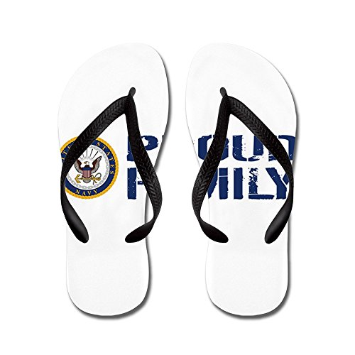 Cafepress Us Navy: Famiglia Orgogliosa (blu E Bianco) - Infradito, Sandali Infradito Divertenti, Sandali Da Spiaggia