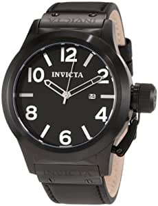 Invicta Men's 1138 Corduba Black Dial Black Leather Watch