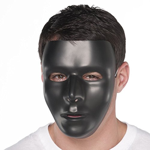 Amscan Full Face Mask, Party Accessory, Black -