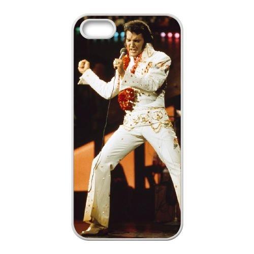 Elvis Presley 002 coque iPhone 5 5S Housse Blanc téléphone portable couverture de cas coque EOKXLLNCD16841
