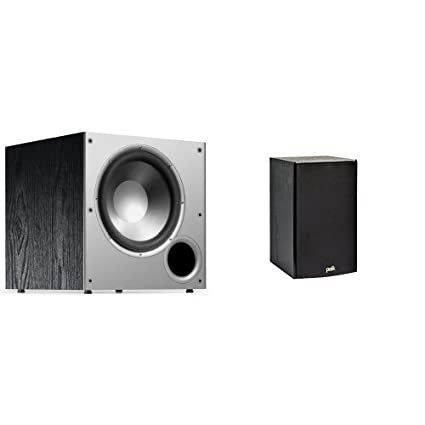 Polk Audio PSW10 Powered Subwoofer With T15 Bookshelf Speakers