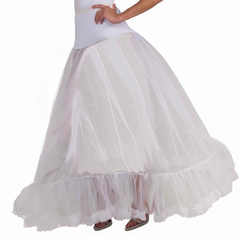 [Woman's Ballroom Hoop Crinoline, White, One Size] (Ballroom Costume For Men)