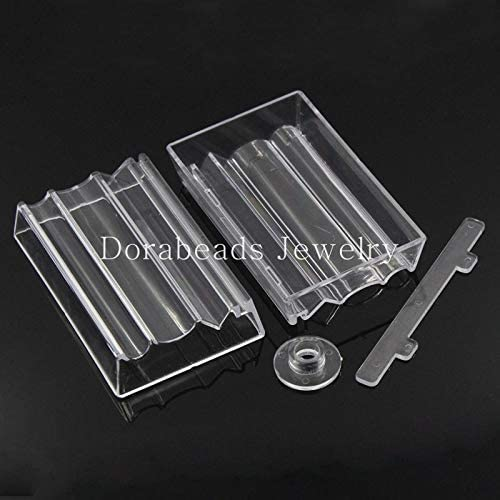 Laliva Bead Roller For Jewelry Making Perfect Polymer Clay Beads Rectangle Transparent 10.2x6.4x1.9cm,2 Sets yiwu B23360