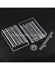 Laliva Bead Roller For Jewelry Making Perfect Polymer Clay Beads Rectangle Transparent 10.2x6.4x1.9cm,2 Sets (B23360) yiwu