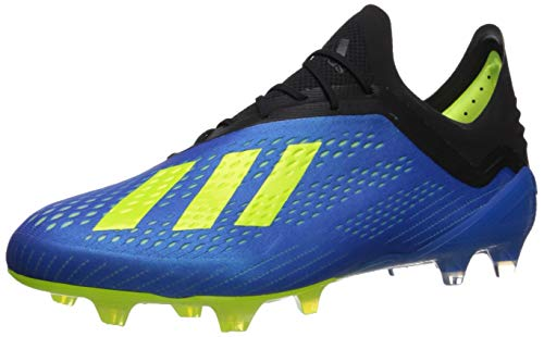 adidas Men's X 18.1 FG Soccer Shoe, Football Blue/Solar Yellow/Black, 9 Medium US