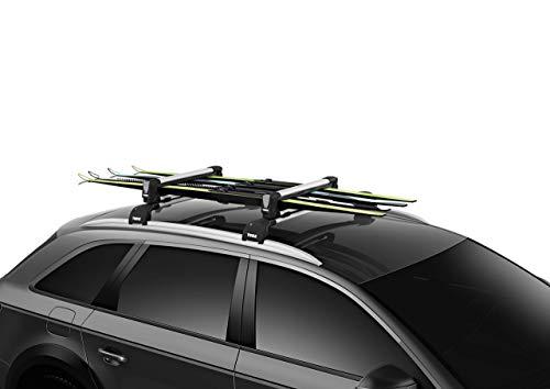 Thule SnowPack Roof Mounted Ski/Snowboard Carrier (Renewed)