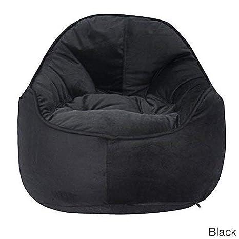 Admirable Amazon Com Giant Bean Bag Chairs For Adults Black Mini Me Machost Co Dining Chair Design Ideas Machostcouk