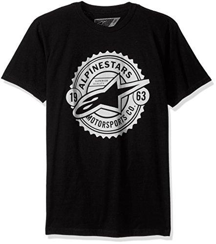 Alpinestars Quality T-shirt - Alpinestars Men's Quality Seal Tee, Black, Large