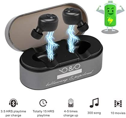 Wireless Earbuds Ture Bluetooth Headphones Noise Isolating Wireless Headphone Bluetooth 5.0 with Built-in Micro 15H Playtime Auto Pairing Touch Control Stereo Sound Large